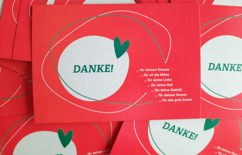 Bestelle jetzt kostenlos eine Danke-Postkarte!