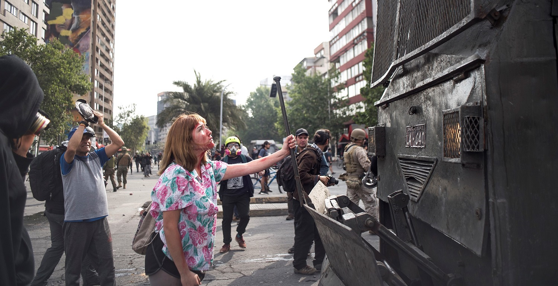 Protestierende in Chile © Mateo Lanzuela, 2019
