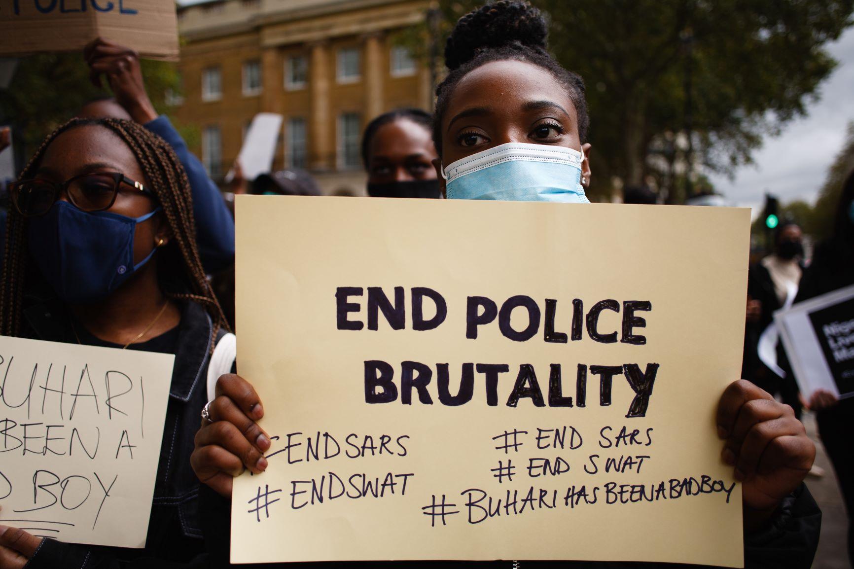 EndSARS Protest in London gegen Polizeigewalt in Nigeria