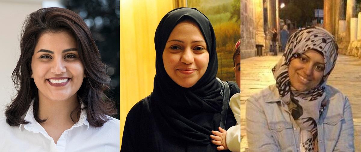 Loujain al-Hathloul, Samar Badawi, Nassima al-Sada © Privat