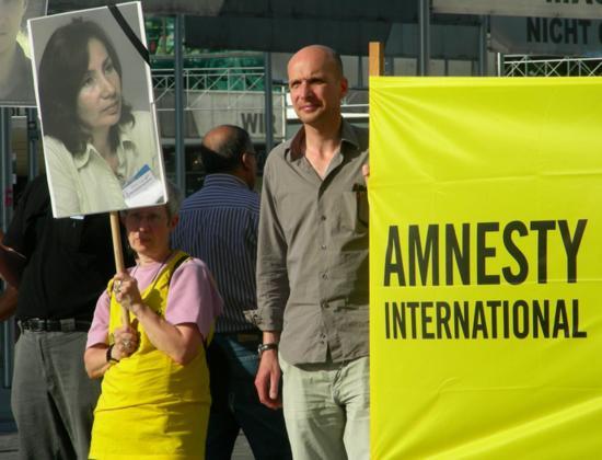 Demonstration für Natalia Estemirowa